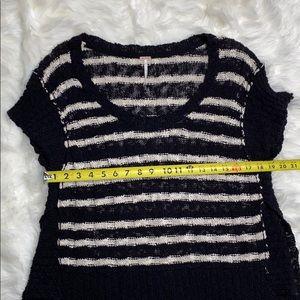 Free People Sweaters - Free People Hi Lo Wide Rib Striped Knit Sweater